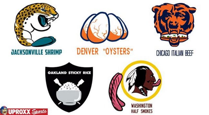 I logo NFL visti come se fossero cibo