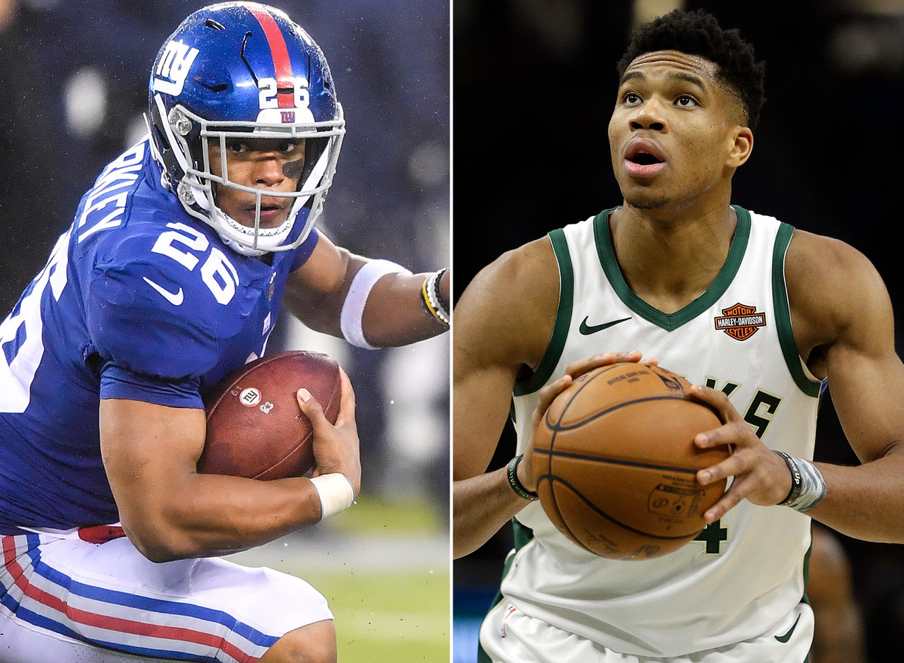 Saquon Barkley, RB, Giants - Giannis Antetokounmpo, F, Bucks
