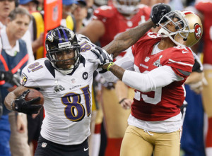 Anquan Boldin during Super Bowl 2013