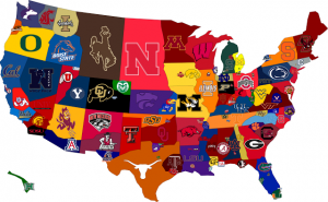 ncaa football usa map