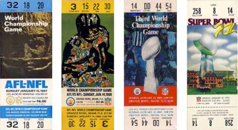 [NFL] I biglietti dei Super Bowl