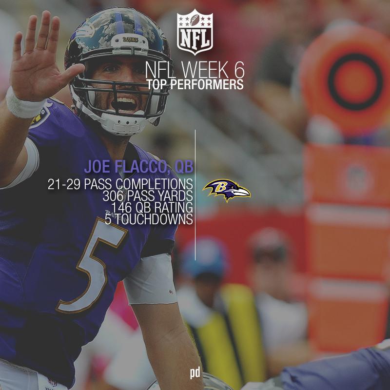[NFL] Week 6: Le migliori prestazioni della sesta settimana