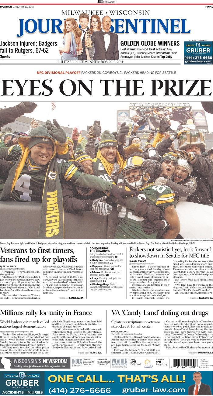 [NFL] Divisional: le prime pagine dei quotidiani USA