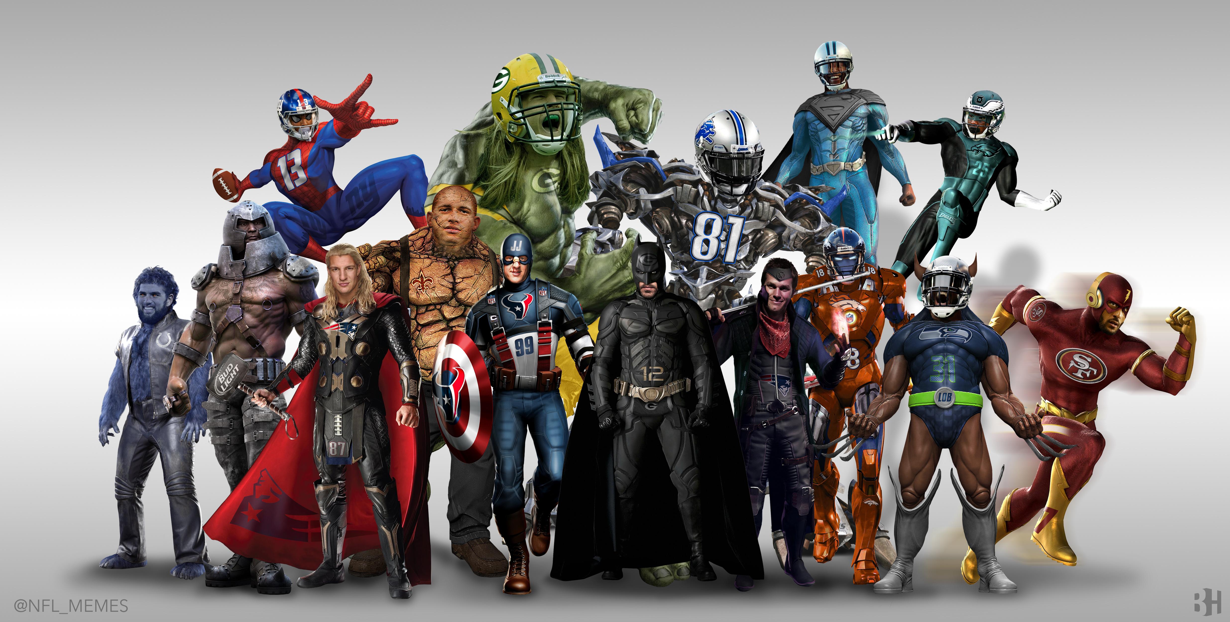 [NFL] 15 giocatori NFL + 1 trasformati in super eroi