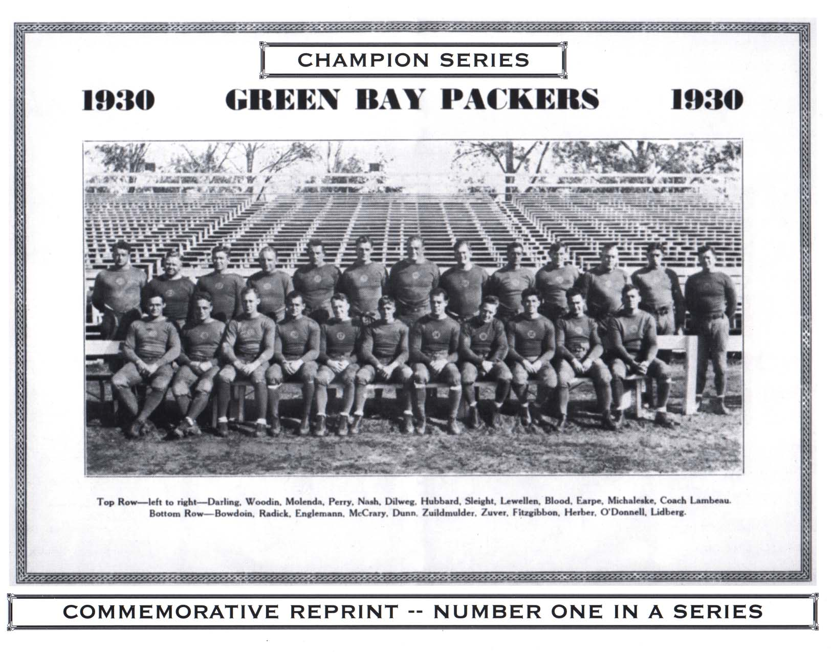 La storia del football americano - 1930: Green Bay Packers vittoriosi