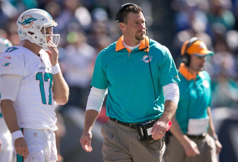 Miami Dolphins interim head coach Dan Campbell