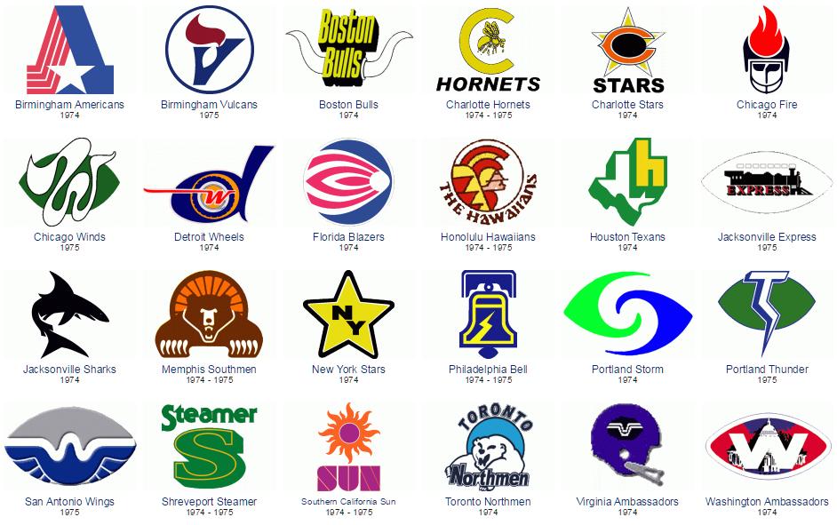 World football league logos