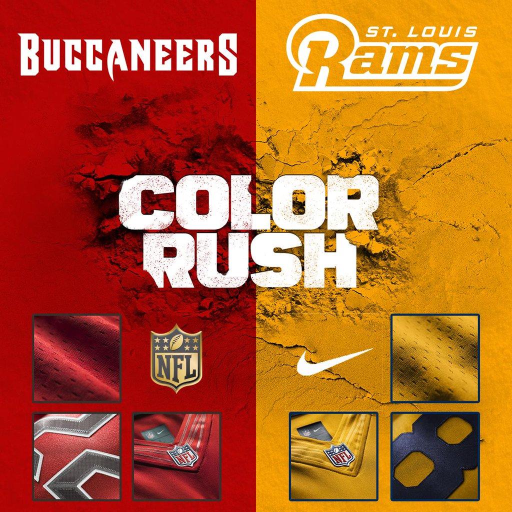 Color Rush: con Buccaneers vs Rams tornano i costumi del giovedì