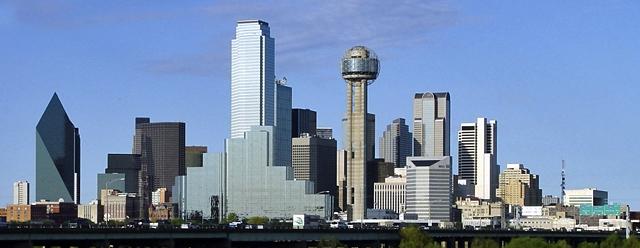 La skyline di Dallas,TX