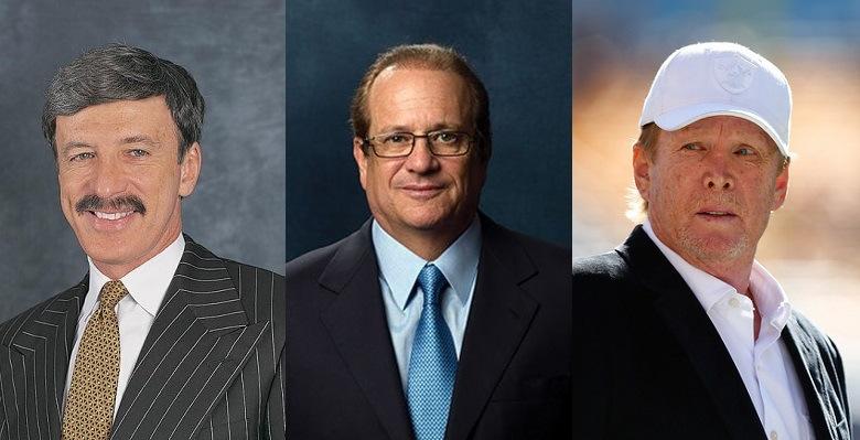 Stan Kroenke (Rams) – Dean Spanos (Chargers) – Mark Davis (Raiders)