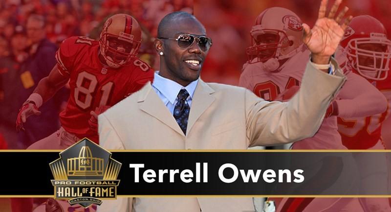 Terrell Owens: receiver capace in carriera di 1.078 ricezioni per 15.934 yard (secondo di sempre) e 153 TD (terzo). Ha il record di ricezioni in una partita (20) e nove stagioni oltre le 1.000 yard. Dopo la gloriosa parentesi ai 49ers, guadagna il Super Bowl XXXIX con gli Eagles, ma esce sconfitto nonostante 122 yard in 9 ricezioni.