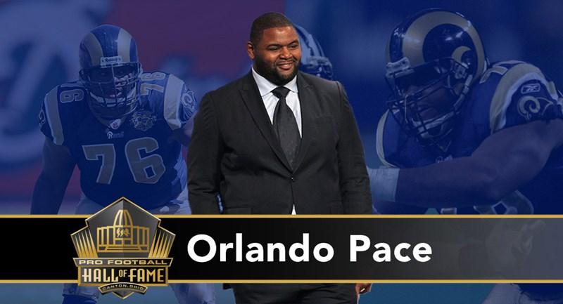 Orlando Pace: tackle prima scelta al Draft del 1997, ha bloccato per tre MVP della NFL consecutivi (Kurt Warner 1999, 2001; Marshall Faulk 2000) e conquistato il Super Bowl XXXIV insieme a loro. Strepitoso blocker, nel 2000 aiuta l'attacco dei Rams a scrivere il maggior numero di passing yard nella storia NFL in una regular season.