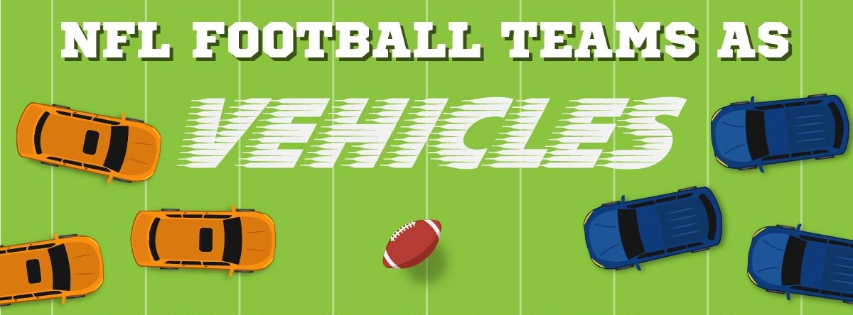Trentadue squadre NFL viste come veicoli