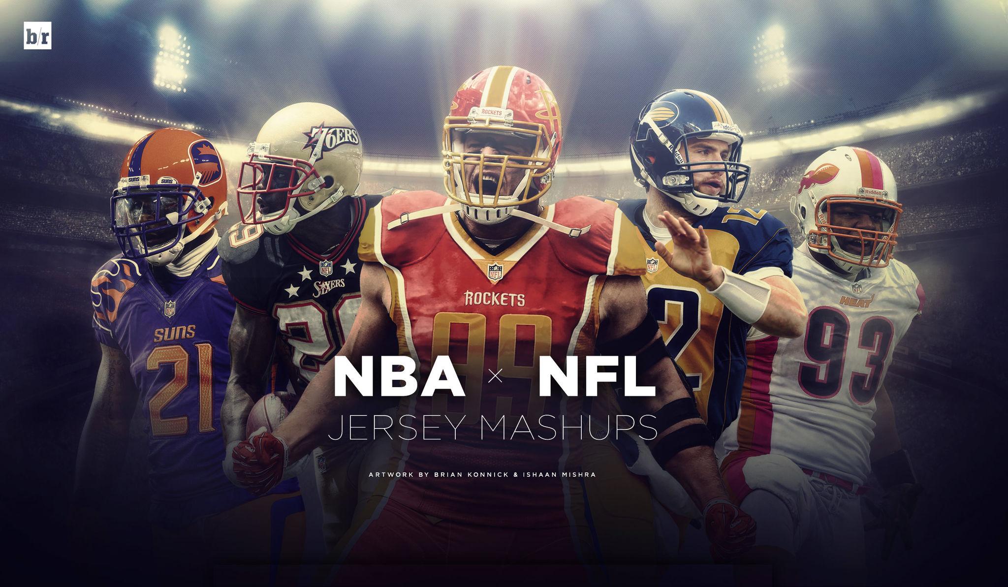 Ventidue divise NFL disegnate in modalità NBA