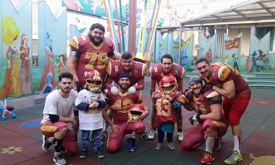 I Gladiatori Roma e i ragazzi del Bambino Gesù
