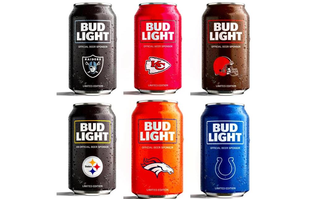 Bud e le lattine dedicate alle squadre NFL