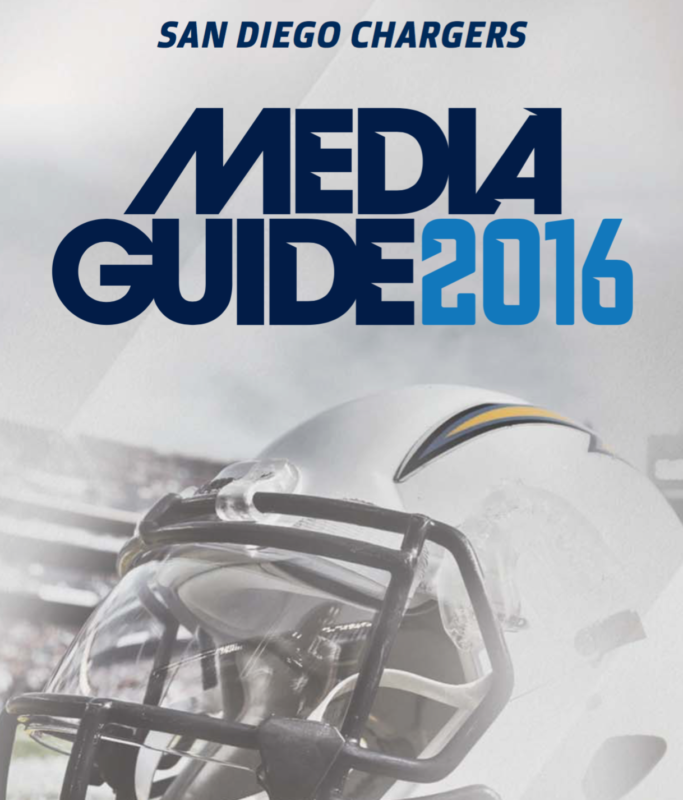San Diego Chargers Email: San Diego Chargers Media Guide 2016