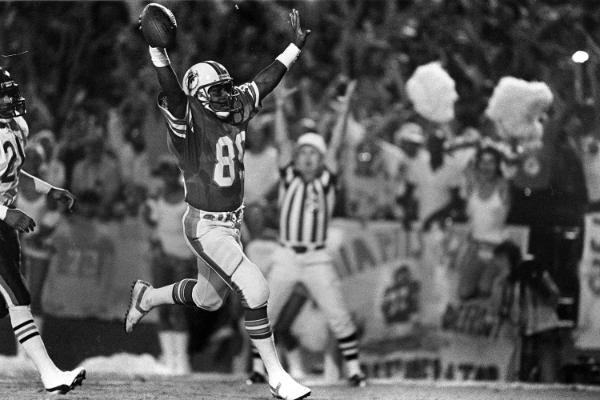 Nat Moore a segno su lancio di Marino contro i Bears (1985)