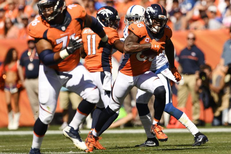 Demaryius Thomas (88) of the Denver Broncos