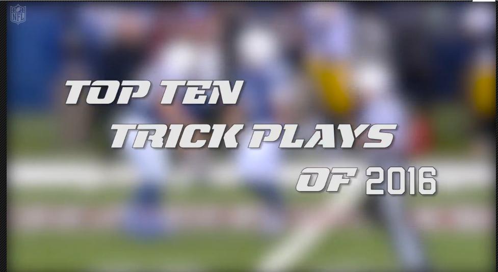 [NFL] I 10 migliori giochi trucco della stagione 2016