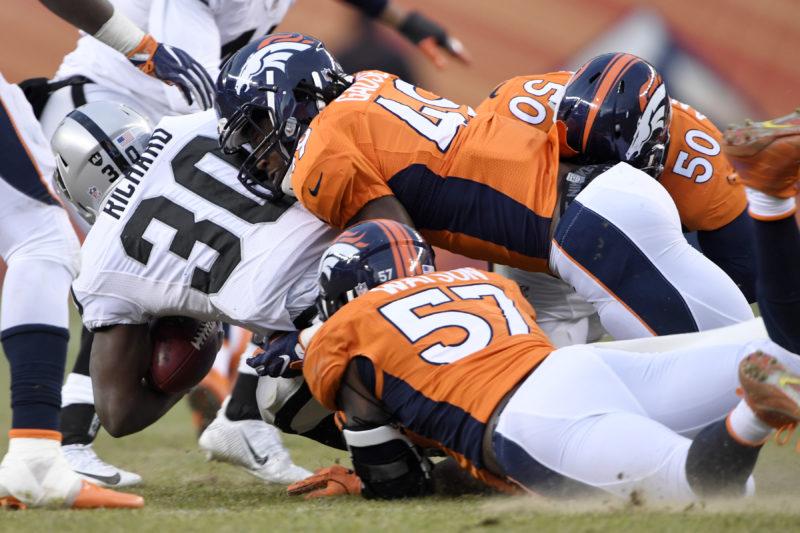 Denver Broncos vs. against the Oakland Raiders, NFL Week 17