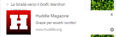 notifiche huddle magazine