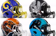 Trentadue caschi NFL con logo grande