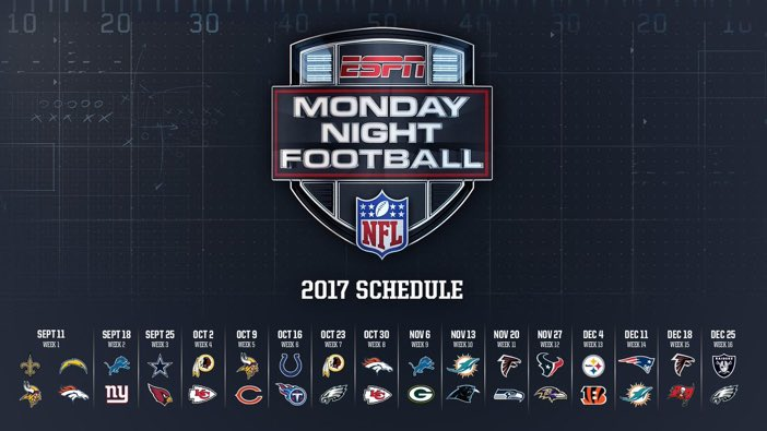 monday night calendario
