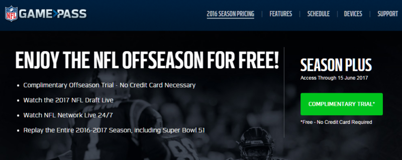 Game Pass gratis nfl