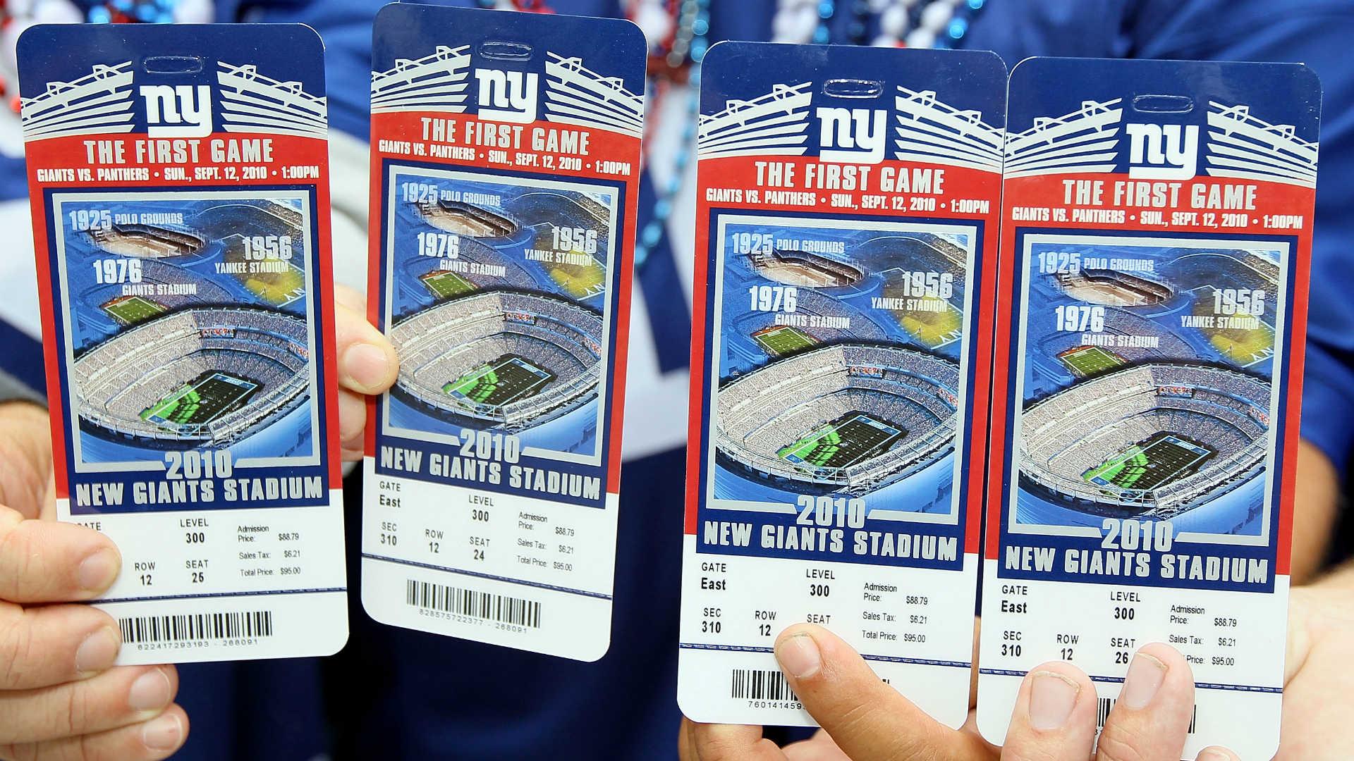 Il costo di un biglietto per una partita NFL