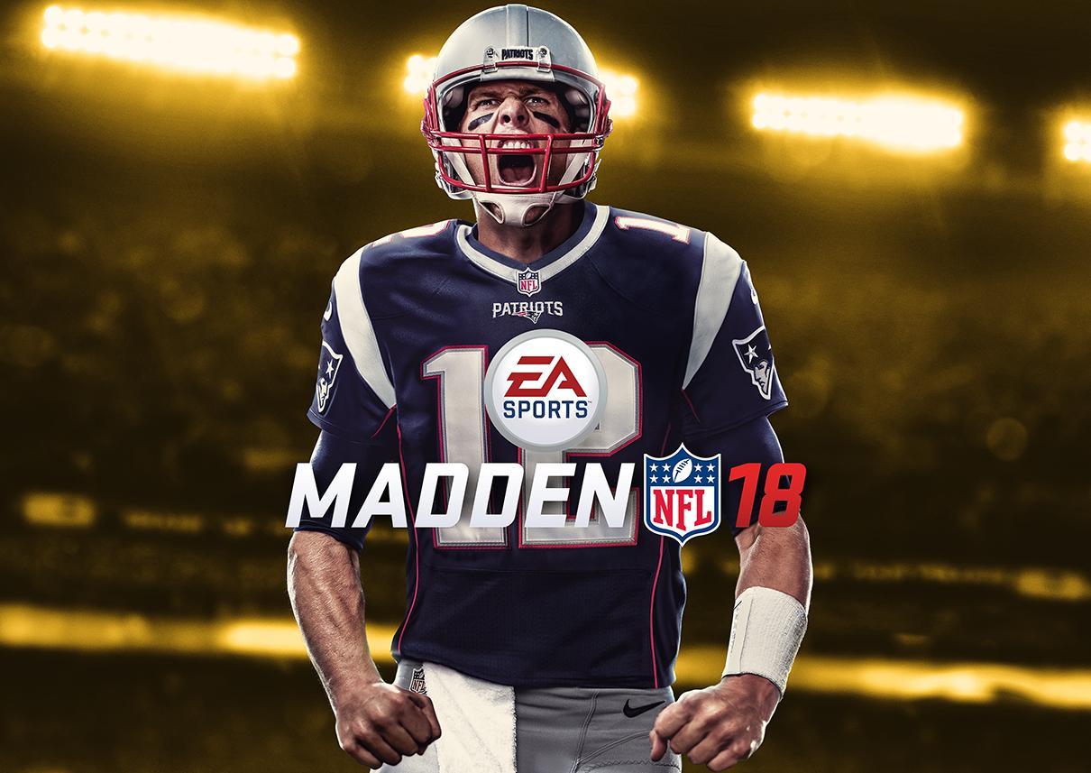 Tom Brady sulla copertina di Madden 18