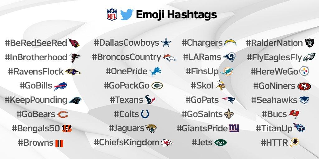 La NFL con gli hashtag di Twitter