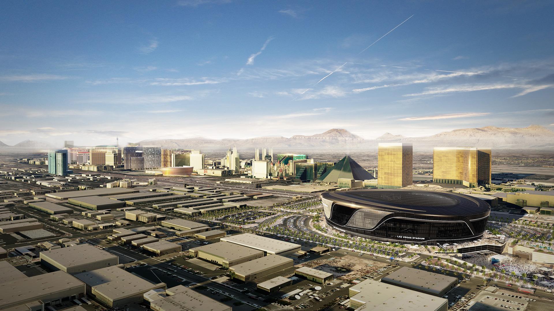Cerimonia di inizio lavori per lo stadio dei Las Vegas Raiders