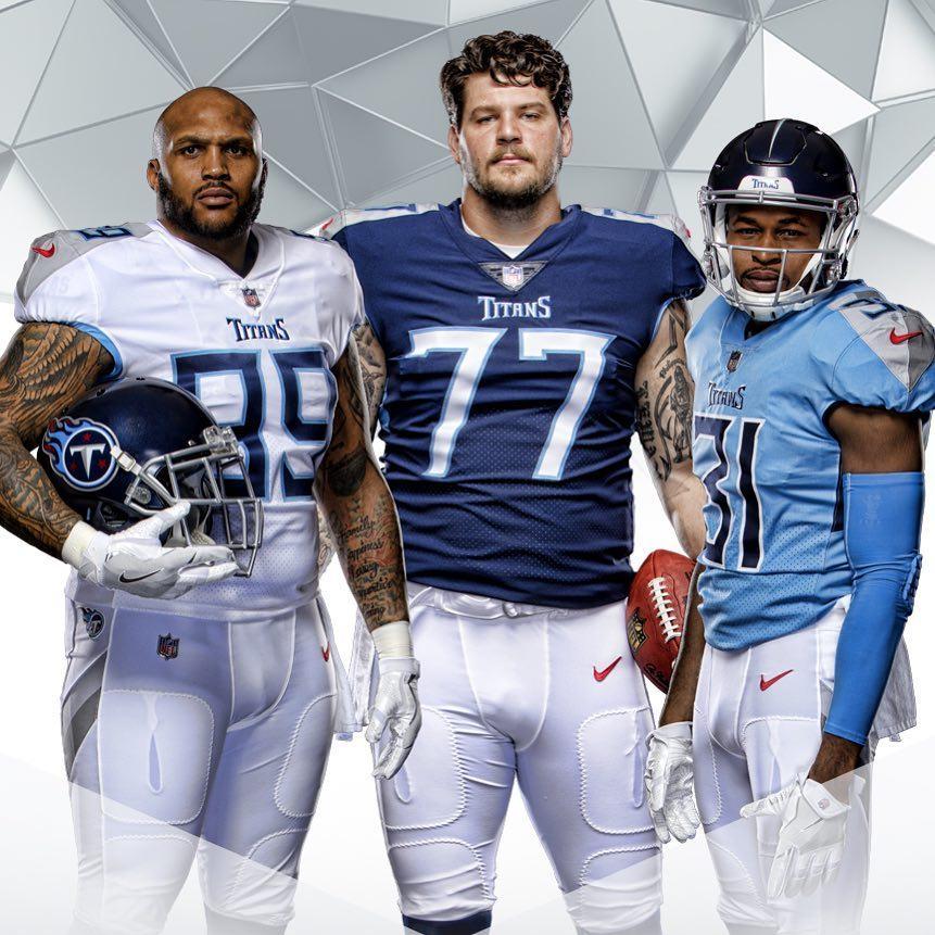 Le nuove divise dei Tennessee Titans