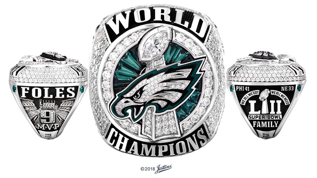L'anello del Super Bowl dei Philadelphia Eagles