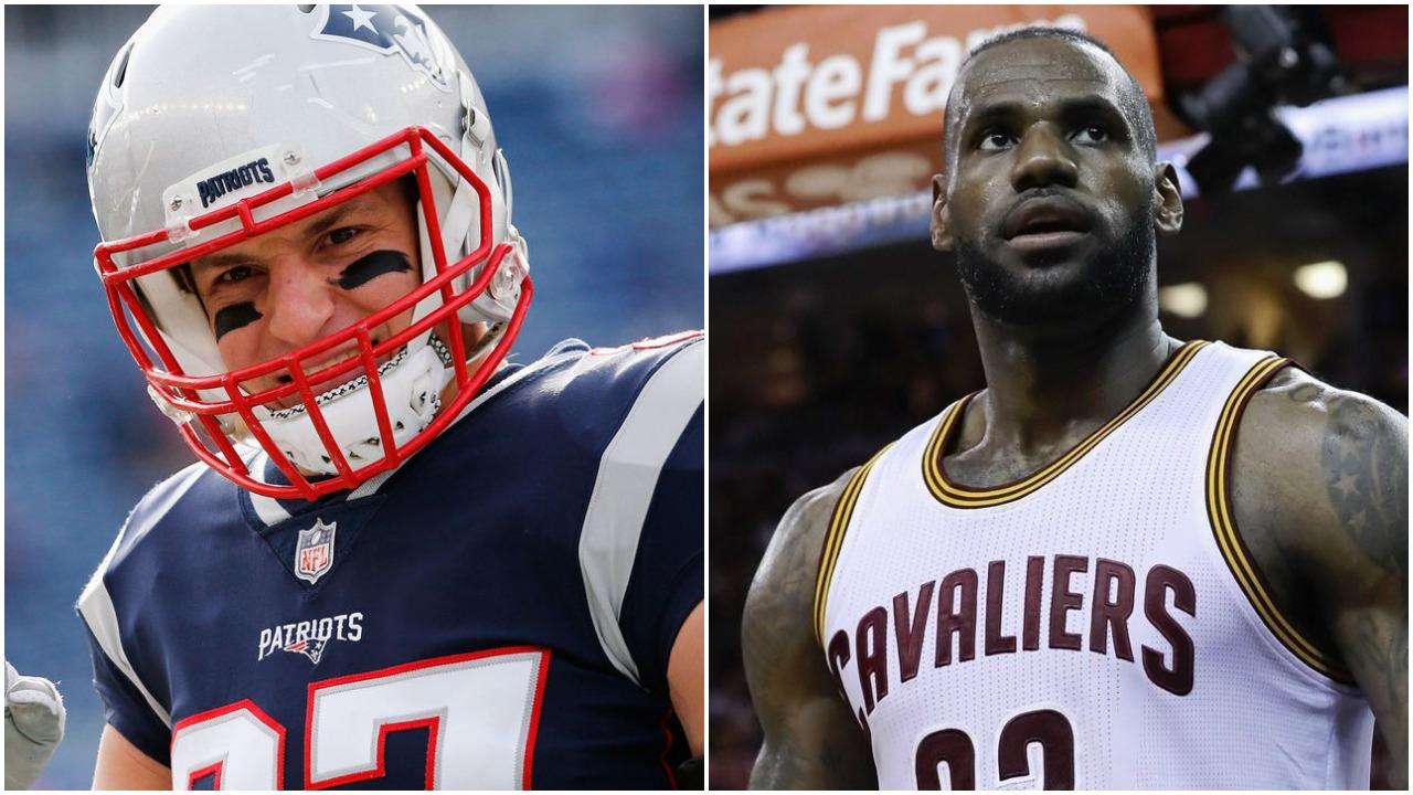 Rob Gronkowski vs LeBron James
