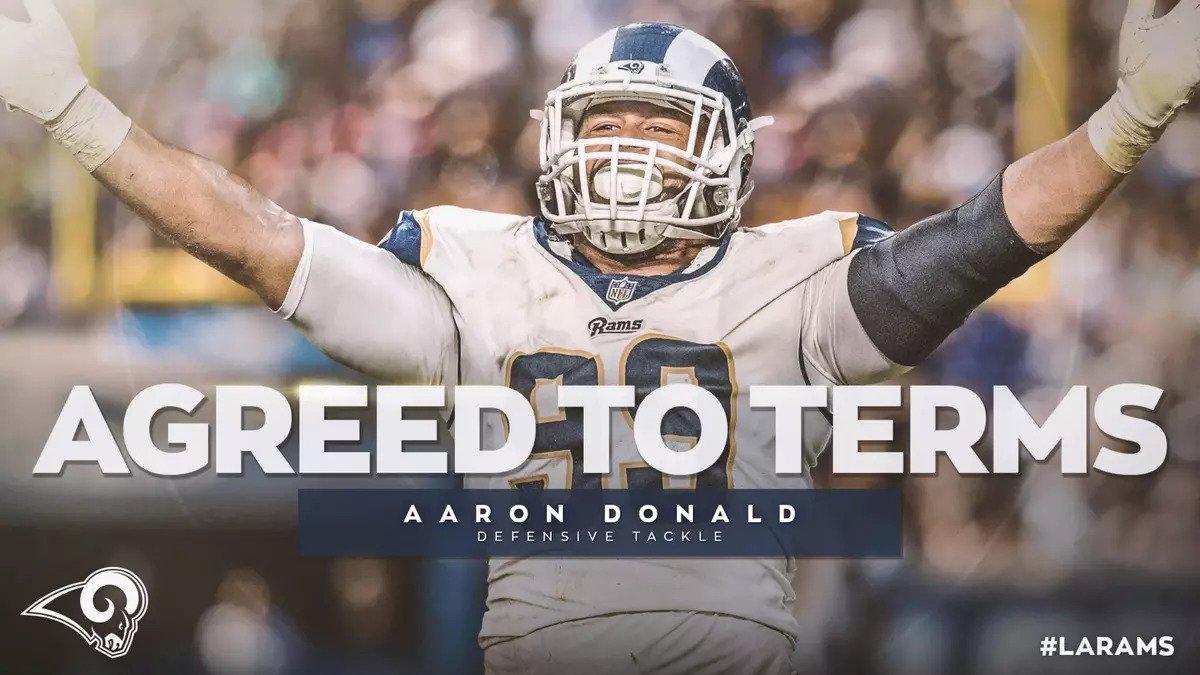 Aaron Donald è il difensore NFL più pagato