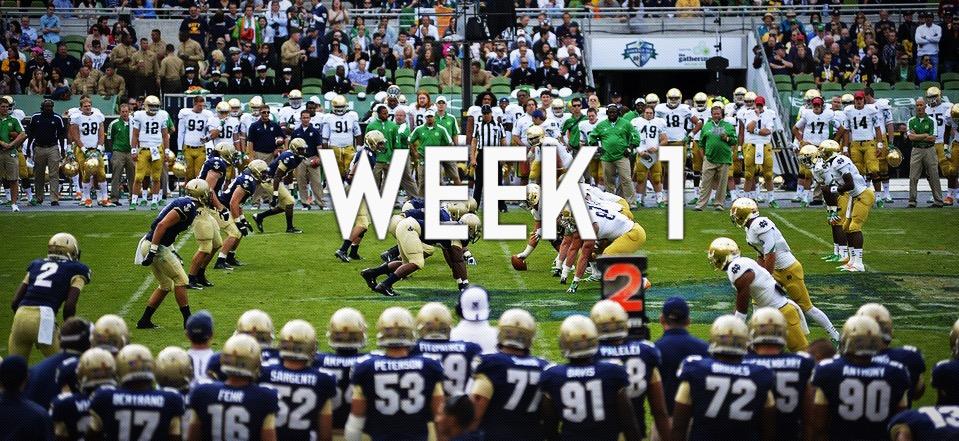 NCAA 2018: programma di Week #1