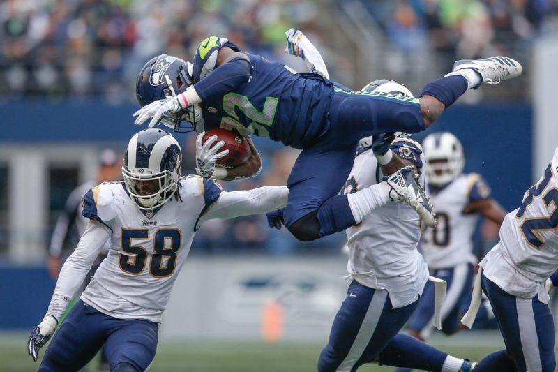 Chris Carson seattle Seahawks Rams