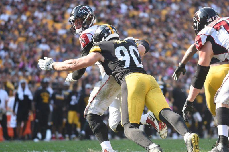 TJ Watt Steelers Falcons
