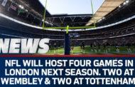 Quattro partite NFL a Londra nel 2019