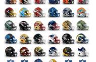 Trentadue caschi NFL di design