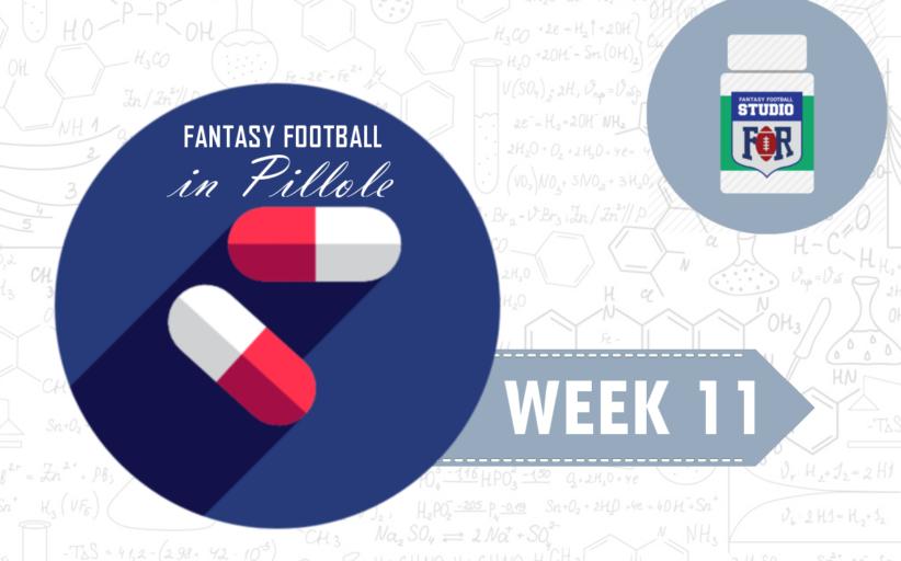 Fantasy Football: Week 11 in Pillole