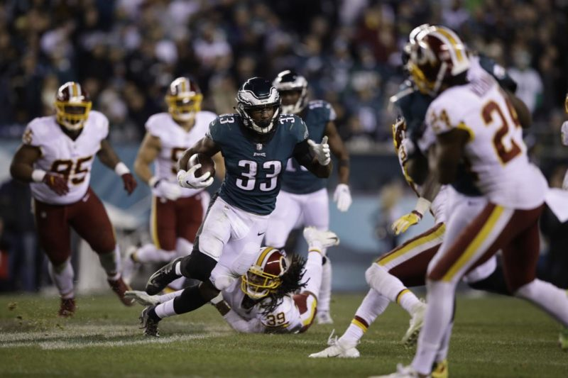 Josh Adams Eagles Redskins