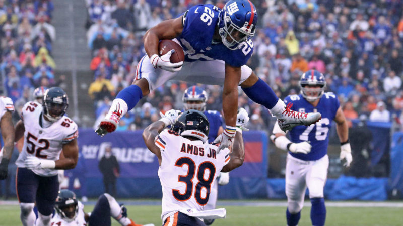 Saquon Barkley Giants Bears