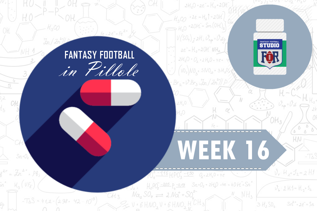 Fantasy Football: Week 16 in Pillole