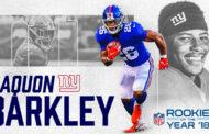 Saquon Barkley è stato proclamato rookie dell'anno