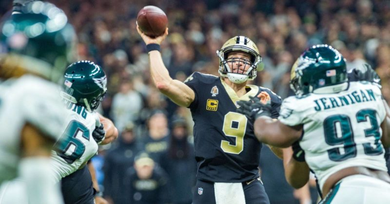 brees saints eagles 112 yard