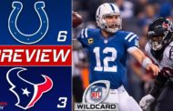 [NFL] Wild Card: Preview Houston Texans vs Indianapolis Colts