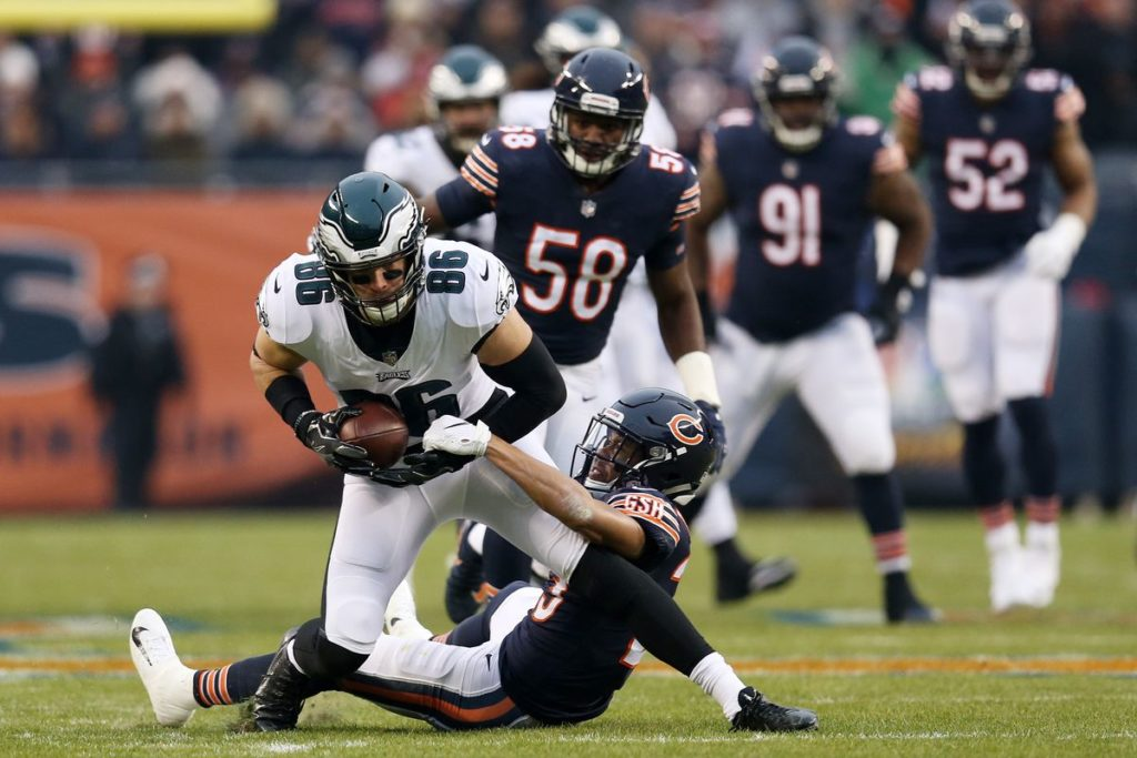ertz eagles bears